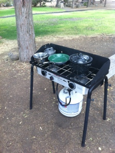 car camping stove -- only invest in one of these once you know you *love* camping