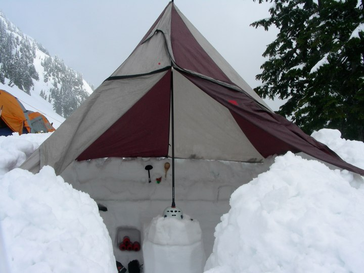 Shelter on Mt Shuksan, North Cascades, Washington state