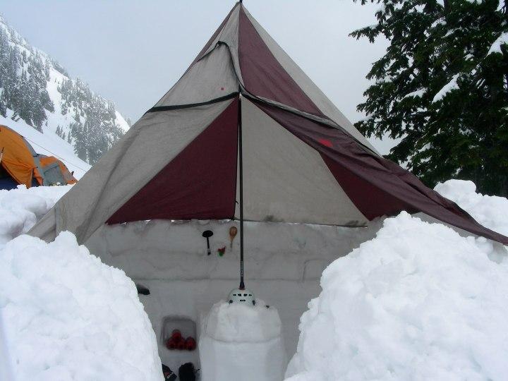 Shelter on Mt Shuksan, North Cascades, Washington state