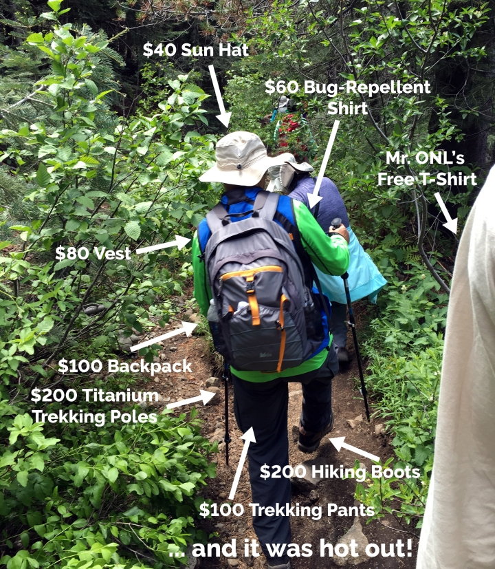 That Thing? You Don't Need It // Hiking Is Walking, and Should Be Free! You Don't Need $1000 Worth of Stuff to Go for a Walk!
