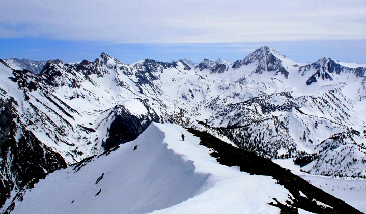 Mr ONL on a backcountry ridge