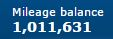 Current mileage balance -- over 1 million!