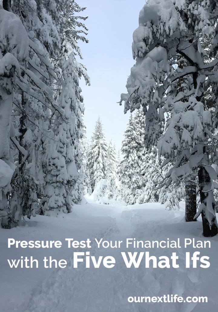 OurNextLife.com // Pressure Test Your Financial Plan with the Five What Ifs // financial planning, retirement planning, making sure your plan is solid enough to stand the test of time, putting your retirement plan to the test